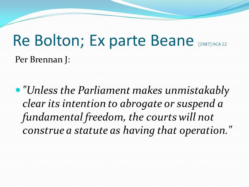 Re Bolton; Ex parte Beane [1987] HCA 12